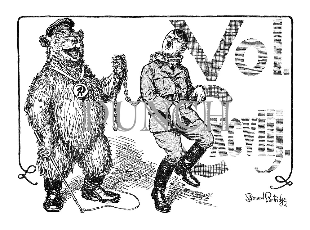 Volume CXXVIII (Adolf Hitler being led on a chain by the Russian Bear)