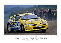 Robbie Head / Bryan Thomas<br /> Renault Dealer Rallying<br /> Renault Maxi Megane
