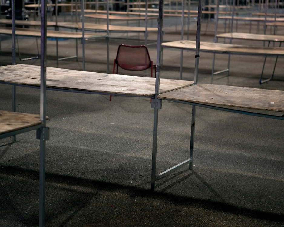 Empty Market Stalls