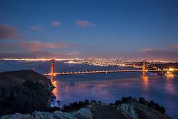 Sunset at the Golden Gate Bridge in San Francisco California