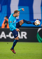 ST PETERSBURG, RUSSIA - OCTOBER 19, 2017. UEFA Europa League group stage: Zenit St Petersburg (Russia) 3 – 1 Rosenborg BK (Norway). Zenit St Petersburg's Domenico Criscito.