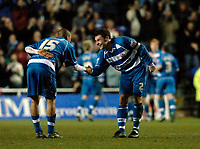 Photo: Daniel Hambury.<br />Reading v Cardiff City. Coca Cola Championship.<br />02/01/2006.<br />Reading's James Harper (L) and Graeme Murty celebrate their sides fourth goal.
