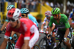 Riders are seen during a passage on the Champs Elysees at the last stage of the 105th edition of the Tour de France cycling race, 116km from Houilles to Paris, France, on Sunday 29 July 2018. This year's Tour de France takes place from July 7th to July 29th. Photo by Eliot Blondet/ABACAPRESS.COM