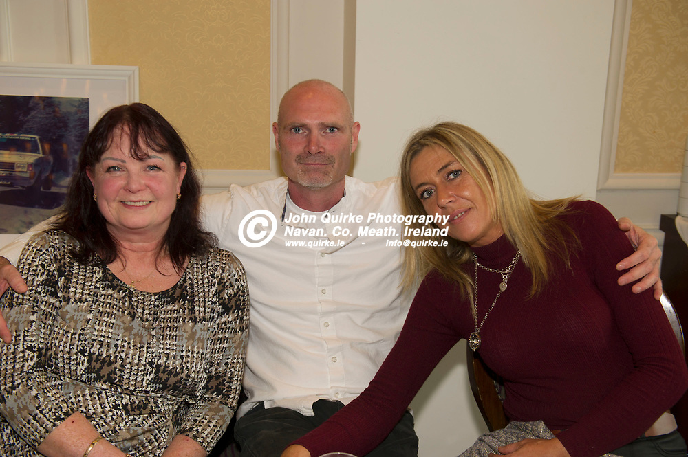 04-10-19. Presentation of Meath Sports Awards Hall of Fame 2018 award to Rosemary Smith.<br /> From left, Kim Jackman, Graham McGilvray and Denise Lennon.<br /> Photo: John Quirke / www.quirke.ie<br /> ©John Quirke Photography, Unit 17, Blackcastle Shopping Cte. Navan. Co. Meath. 046-9079044 / 087-2579454.