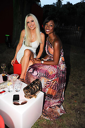Left to right, EMMA NOBLE and BEVERLEY KNIGHT at the annual Serpentine Gallery Summer party this year sponsored by Jaguar held at the Serpentine Gallery, Kensington Gardens, London on 8th July 2010.  2010 marks the 40th anniversary of the Serpentine Gallery and the 10th Pavilion.