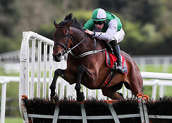 Zero Ten ridden by David Mullins clears the last on the way to winning Connolly's RED MILLS Irish EBF Auction Hurdle Series Final during day two of the Punchestown Festival at Punchestown Racecourse, County Kildare, Ireland.