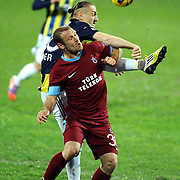 Fenerbahce's Caner Erkin (B) during their Turkish SuperLeague Derby match Trabzonspor between Fenerbahce at the Avni Aker Stadium at Trabzon Turkey on Sunday, 17 February 2013. Photo by TURKPIX