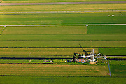 Nederland, Zuid-Holland, Gemeente Alphen aan den Rijn, 23-05-2011; Molen nummer 3, Zuid- en Noordeinderpolder in het Groene Hart. A water mill in a polder of the Green Zone of the Netherlands. .luchtfoto (toeslag), aerial photo (additional fee required).copyright foto/photo Siebe Swart
