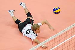 12.09.2011, O2 Arena, Prag, CZE, Europameisterschaft Volleyball Maenner, Vorrunde D, Deutschland (GER) vs Bulgarien (BUL), im Bild Ferdinand Tille (#12 GER) // during the 2011 CEV European Championship, Germany vs Bulgaria at O2 Arena, Prague, 2011-09-12. EXPA Pictures © 2011, PhotoCredit: EXPA/ nph/  Kurth       ****** out of GER / CRO  / BEL ******
