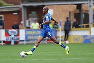 AFC Wimbledon midfielder Jimmy Abdou (8) dribbling during the EFL Sky Bet League 1 match between AFC Wimbledon and Rochdale at the Cherry Red Records Stadium, Kingston, England on 30 September 2017. Photo by Matthew Redman.