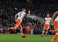 Football - 2018 / 2019 EFL Carabao (League) Cup - Fourth Round: Arsenal vs. Blackpool<br /> <br /> Paudie O'Connor (Blackpool FC) runs back to his own half after he scores to make it 2-1 at The Emirates.<br /> <br /> COLORSPORT/DANIEL BEARHAM