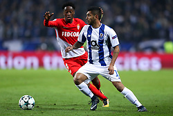 December 6, 2017 - Porto, Porto, Portugal - Porto's Mexican forward Jesus Corona (R) in action with Terence Kongolo (L) defender of AS Monaco FC during the UEFA Champions League Group G match between FC Porto and AS Monaco FC at Dragao Stadium on December 6, 2017 in Porto, Portugal. (Credit Image: © Dpi/NurPhoto via ZUMA Press)