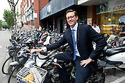 Derek Sulger poses in the streets of Shanghai, China, on September 7, 2010. Photo by Lucas Schifres/Pictobank