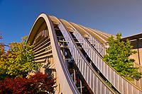 Exterior of the Zentrum Paul Klee (art gallery) by Italian architect Renzo Piano, Bern, Canton Bern, Switzerland