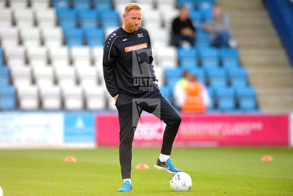 TELFORD COPYRIGHT MIKE SHERIDAN Gavin Cowan during the National League North fixture between AFC Telford United and Kidderminster Harriers on Tuesday, August 6, 2019.<br />