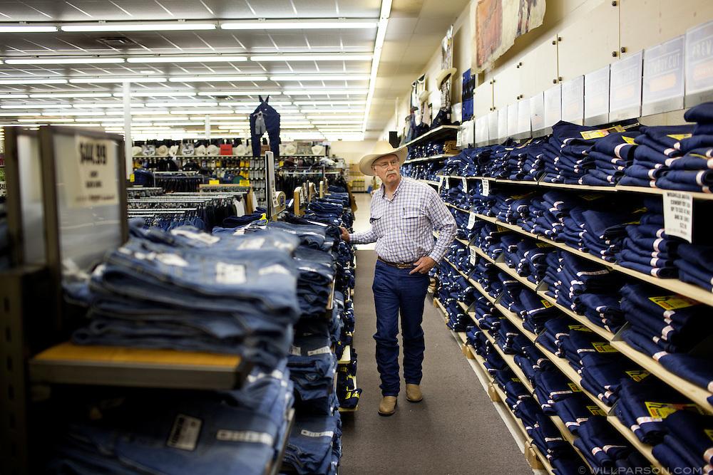 J Parson shops for Wrangler jeans in Pittsburg, Kansas.
