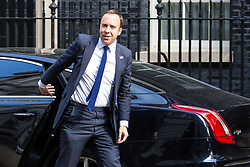 London, UK. 7 May, 2019. Matt Hancock MP, Secretary of State for Health and Social Care, arrives at 10 Downing Street for a Cabinet meeting.