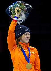 12-01-2019 NED: ISU European Short Track Championships 2019 day 2, Dordrecht<br /> 1500 meter Gold for Suzanne Schulting #24 NED