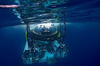 Dr. Sylvia Earle and Fisk Johnson make a Deep See Submersible Dive at Darwin Island in the Galapagos Islands.