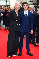 Emma Thompson and Fionn Whitehead attending the Children Act Premiere, at the Curzon Mayfair cinema in London.Picture date: Thursday August 16, 2018. Photo credit should read: Matt Crossick/ EMPICS Entertainment.
