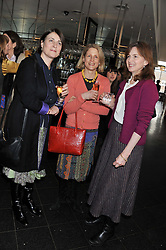 Left to right, JULIA BANNISTER, JENNY LITHERLAND and LADY EMMA MAHMOOD at a ladies lunch in support of Maggie's Barts hosted by Judy Naake, Clara Weatherall and Caroline Collins at Le Cafe Anglais, 8 Porchester Gardens, London W2 on 19th March 2013.