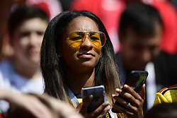 June 23, 2018 - Moscou, Russie - MOSCOW, RUSSIA - JUNE 23 : Deborah Meunier, wife of Thomas Meunier defender of Belgium pictured during the FIFA 2018 World Cup Russia group G phase match between Belgium and Tunisia at the Spartak Stadium on June 23, 2018 in Moscow, Russia, 23/06/2018 (Credit Image: © Panoramic via ZUMA Press)
