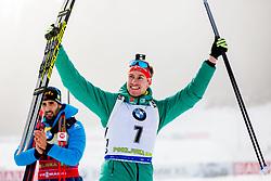 Johannes Kuehn (GER) during Flower ceremony after the Men 20km Individual at day 5 of IBU Biathlon World Cup 2018/19 Pokljuka, on December 6, 2018 in Rudno polje, Pokljuka, Pokljuka, Slovenia. Photo by Ziga Zupan / Sportida