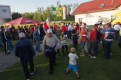 Party after the last football match between NK Aluminij Kidricevo and NK Roltek Dob in 27th, last Round of 2nd SNL, on May 19, 2012 in Sports park Kidricevo, Slovenia. NK Aluminij defeated NK Dob 2-1, won 2nd SNL and qualified to 1st SNL. (Photo by Vid Ponikvar / Sportida.com)