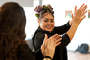 Singer Olivia Rojas (left) and Flamenco dancer Angelina Ramirez (right) during rehearsal in their dance studio in Downtown Phoenix on August 12, 2016. Rojas and Ramirez are co-owners of Flamenco Por La Vida dance studio. Singer Olivia Rojas (left) and Flamenco dancer Angelina Ramirez (right) pose for a photo outside of their dance studio in Downtown Phoenix on August 12, 2016. Rojas and Ramirez are co-owners of Flamenco Por La Vida dance studio.