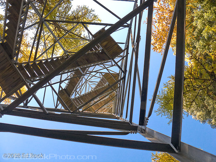 Hoodoo Fire Lookout stairs in the Umatilla National Forest, Blue Mountains, Oregon, USA