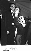 William Cash and  Louise King  at the Vanity Fair Oscar Night Party.  Mortons. Los Angeles.  24 March 1997<br />Copyright Photograph by Dafydd Jones<br />66 Stockwell Park Rd. London SW9 0DA<br />Tel 0171 733 0108