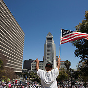 Tens of thousands of demonstrators took to the streets of Los Angeles on May 1, 2010 to protest against the new Arizona law, SB 1070, that created strict immigration laws against the undocumented. Please contact Todd Bigelow directly with your licensing requests.