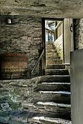 Stone stairs.