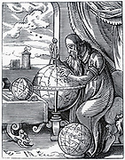 The Astronomer: sixteenth century woodcut.