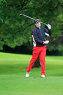 John Hickey (Cork) on the 3rd tee during round 1 of The Mullingar Scratch Cup in Mullingar Golf Club on Sunday 3rd August 2014.<br /> Picture:  Thos Caffrey / www.golffile.ie