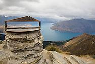 View from Ben Lomond to Lake Wakatipu near Queenstown, New Zealand