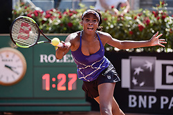 May 18, 2017 - Rome, Italy - VENUS WILLIAMS of the USA in action against J. Konta of Great Britain during their match at the Italian Open in Rome. Williams won 6:3, 3:6, 6:1.  (Credit Image: © Giuseppe Maffia/NurPhoto via ZUMA Press)