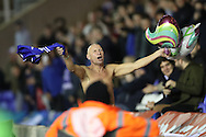Birmingham City shirtless fan during the EFL Sky Bet Championship match between Birmingham City and Brighton and Hove Albion at St Andrews, Birmingham, England on 17 December 2016.