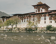 The famous Punakha Monastery, known as Dzong.