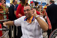 Spanish's paralympic arrive to Madrid Adolfo Suarez airport after the Paralympics of Rio 2016 . September 21, 2016. (ALTERPHOTOS/Rodrigo Jimenez)