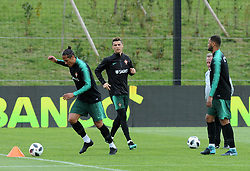 March 20, 2018 - Na - Oeiras, 03/20/2018 - The National Team AA trained this morning with a view to preparing for the 2018 World Cup in the City of Soccer in Oeiras. Bruno Alves, Cristiano Ronaldo, Rolando  (Credit Image: © Atlantico Press via ZUMA Wire)