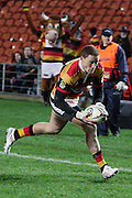 Declan O'Donnell eyes the try line during their Round 5 ITM cup Rugby match, Waikato v Tasman, at Waikato Stadium, Hamilton, New Zealand, Friday 29 July 2011. Photo: Dion Mellow/photosport.co.nz