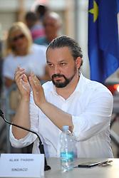 ALAN FABBRI<br /> PRIMO CONSIGLIO COMUNALE GIUNTA FABBRI IN ZONA GAD GRATTACIELO