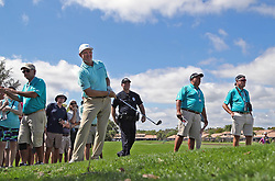 February 28, 2019 - Palm Beach Gardens, Florida, U.S. - Ernie Els hits his second shot on the par 4, 6th hole during the first round of the Honda Classic Thursday at PGA National Resort and Spa in Palm Beach Gardens, February 28, 2019. (Credit Image: © Allen Eyestone/The Palm Beach Post via ZUMA Wire)