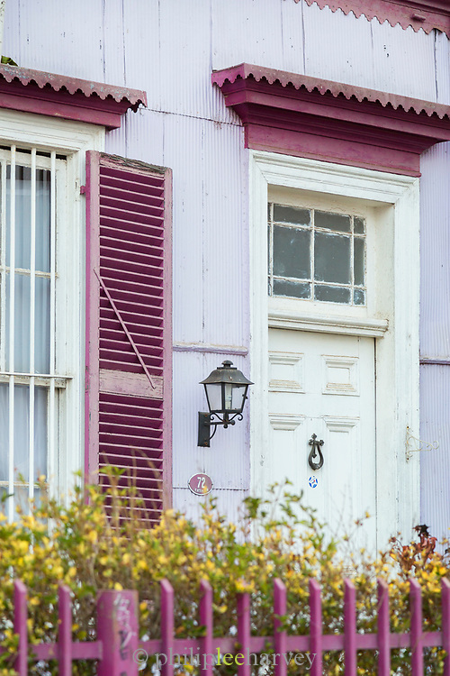 Purple house in Valparaiso, Chile