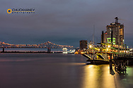 Steamboat The Natchez on the Mississippi River at dawn in New Orleans, Louisiana, USA