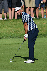 August 9, 2018 - Town And Country, Missouri, U.S - SCOTT PIERCY from Las Vegas Nevada, USA  lines up his fairway shot on hole number 14 during round one of the 100th PGA Championship on Thursday, August 8, 2018, held at Bellerive Country Club in Town and Country, MO (Photo credit Richard Ulreich / ZUMA Press) (Credit Image: © Richard Ulreich via ZUMA Wire)
