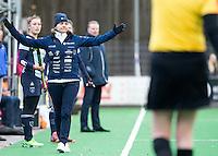 BILTHOVEN - HOCKEY -  coach Ageeth Boomgaardt  van Laren tijdens de hoofdklasse competitiewedstrijd tussen de dames van SCHC en LAREN (2-2). COPYRIGHT KOEN SUYK