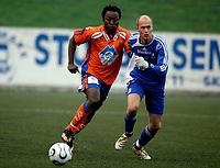 Fotball 06. oktober 2006 , Pors - Aalesund 1-5<br /> Sigurd Nilsen , Pors og Kabba Samura , Aalesund