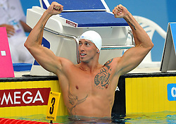 15.08.2010, Budapest, Ungarn, HUN, Schwimmeuropameisterschaften, Budapest 2010, im Bild Frederick Bousquet (FRA) 50m freestyle gold medal.Swimming European Championships Budapest 2010 - Campionati Europei di Nuoto Budapest 2010.Swimming finals - Finali di nuoto.EXPA Pictures © 2010, PhotoCredit: EXPA/ InsideFoto/ Giorgio Perottino +++++ ATTENTION - FOR AUSTRIA AND SLOVENIA CLIENT ONLY +++++.